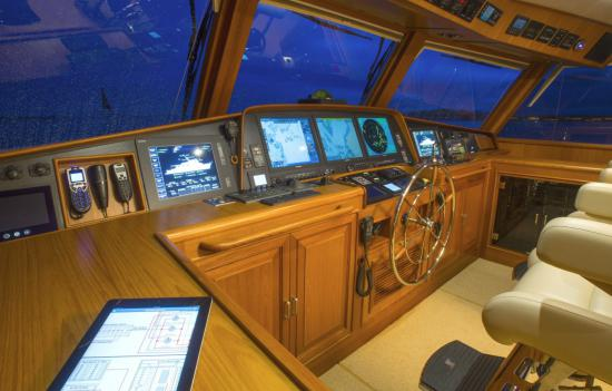 Fleming Yachts 78 chart table