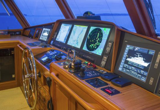 Fleming Yachts 78 control station