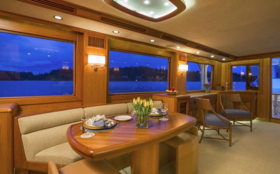 Fleming Yachts 78 dining table