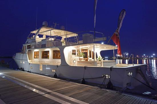 Fleming Yachts 78 docked
