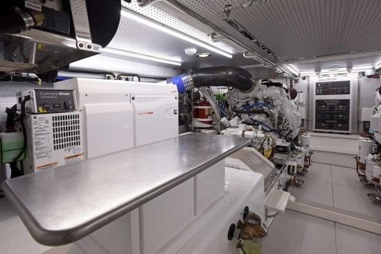 Fleming Yachts 78 engine table
