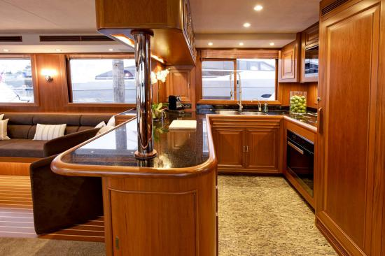 Fleming Yachts 78 galley counter