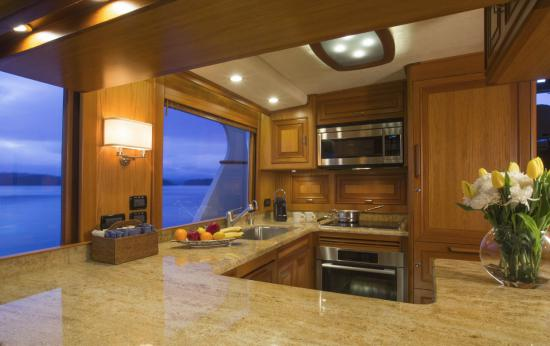Fleming Yachts 78 galley