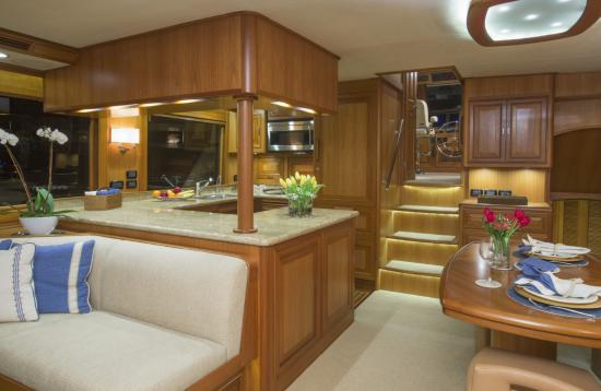 Fleming Yachts 78 galley view