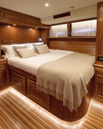 Fleming Yachts 78 double bed