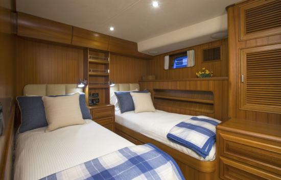 Fleming Yachts 78 guest stateroom