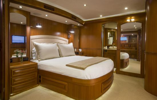 Fleming Yachts 78 master stateroom