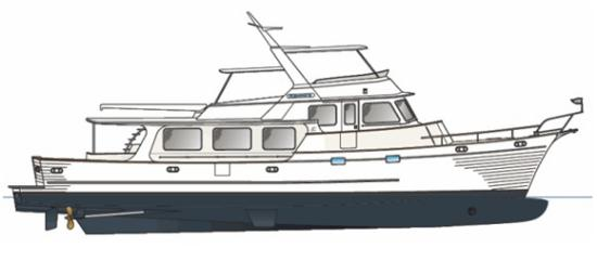 Fleming Yachts 78 profile drawing