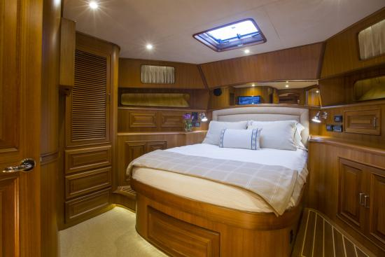 Fleming Yachts 78 queen bed