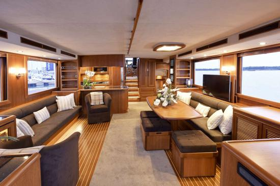 Fleming Yachts 78 salon doors