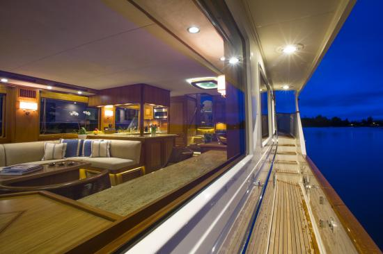 Fleming Yachts 78 side deck