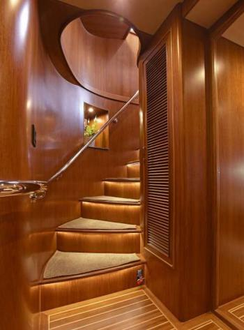 Fleming Yachts 78 stairs