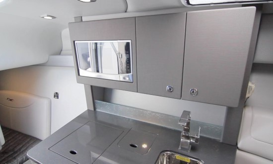 Formula 350 Sun Sport compact sized galley