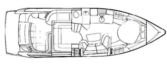 Formula 37 Performance Cruiser layout