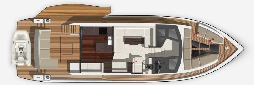 Galeon 500 Fly deck