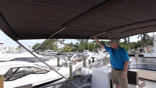Galeon 420 Fly bimini top