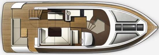 Galeon 420 Fly deck layout