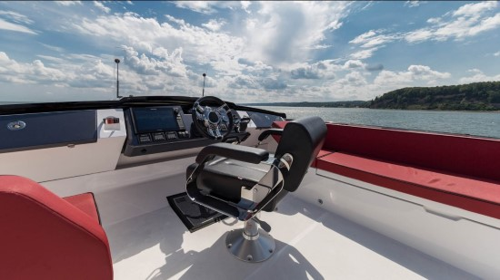 Galeon 560 Skydeck Helm and Windscreen
