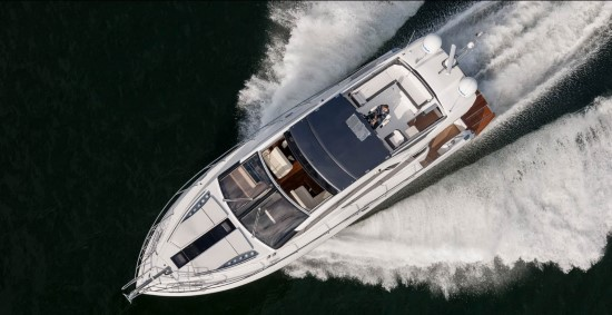Galeon 560 Skydeck Bird's Eye View
