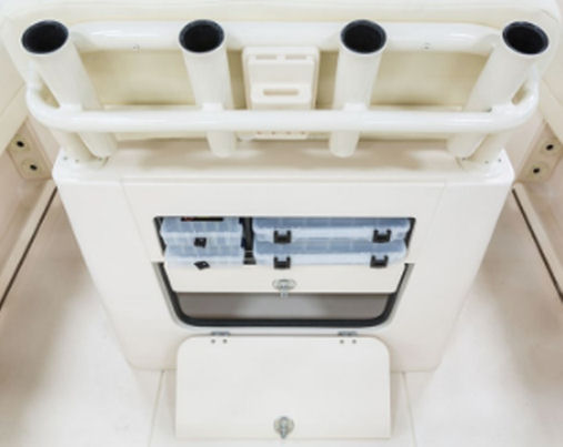 Grady-White Fisherman 216 tackle boxes