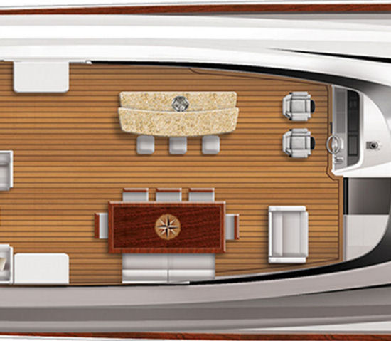 Hatteras 100 Raised Pilothouse formal dining