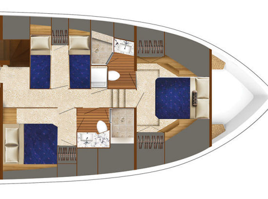 Hatteras 70 Motor Yacht accommodations