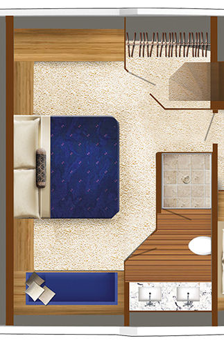 Hatteras 70 Motor Yacht master stateroom layout