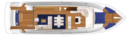 Hatteras 70 Motor Yacht optional layout