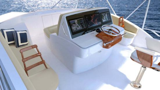 Hatteras GT59 fly bridge
