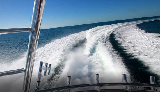 Hatteras GT59 planing speeds