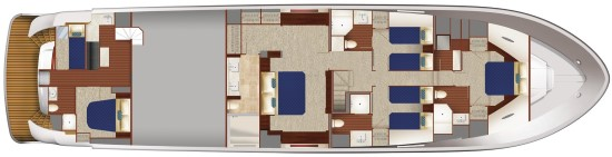 Hatteras M90 Panacera accommodations