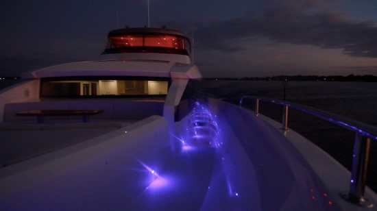 Hatteras M90 Panacera lights