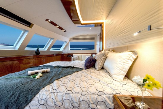 Horizon PC74 Master Stateroom View