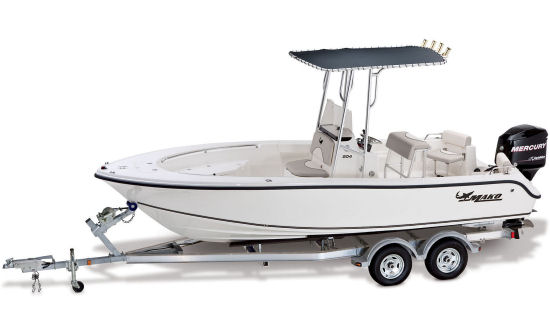 Mako 204 CC boat with trailer
