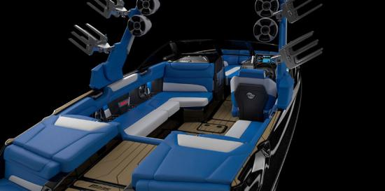 Malibu M235 wrap around seating