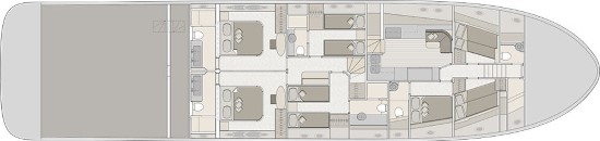 Monte Carlo Yachts 96 lower deck layout