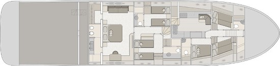 Monte Carlo Yachts 96 vip layout