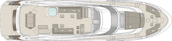 Monte Carlo Yachts 96 flybridge layout
