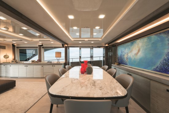 Monte Carlo Yachts 96 side passage