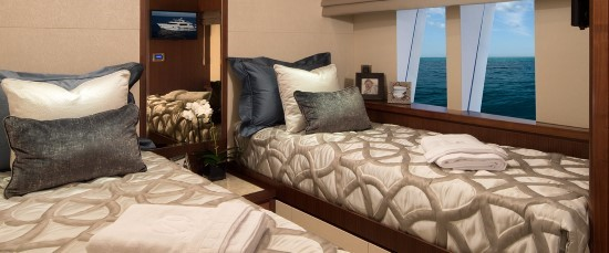 Ocean Alexander 100 Skylounge guest staterooms
