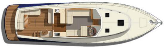 Palm Beach 50 deck layout
