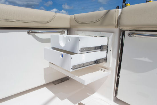 Pursuit OS 355 Offshore tackle drawers
