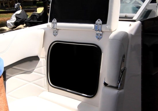 Regal 26 OBX helm console storage