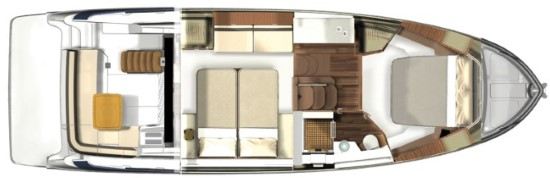 Regal 42 Fly accommodations layout