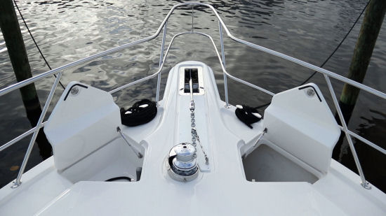 Riviera 52 Enclosed Flybridge bow hatches