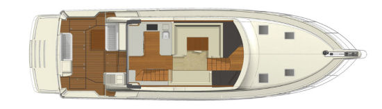 Riviera 52 Enclosed Flybridge main deck layout