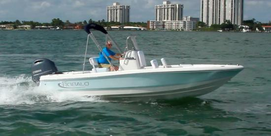 Robalo 206 Cayman S running