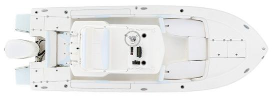 Robalo 246 Cayman SD deck plan