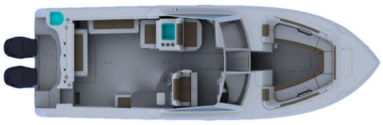 Sailfish 325 DC floor plan