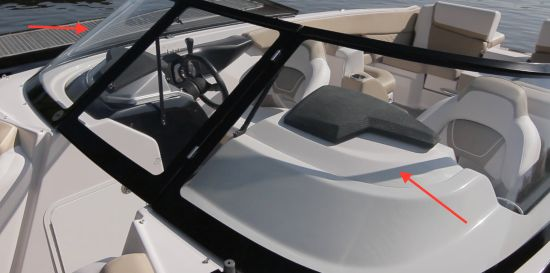 Scarab 255 Platinum SE windshield